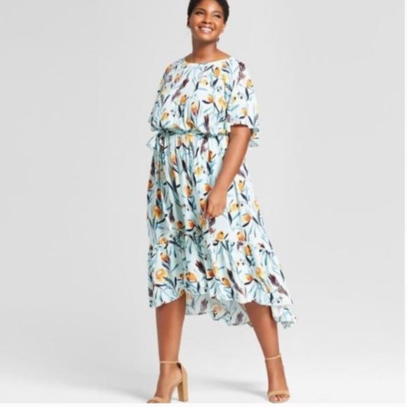 9d72f0b100cc Ava & Viv Dresses | Nwot Ava Viv Tulip Floral Highlow Maxi Dress ...